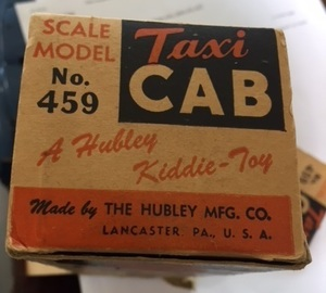 Hubley scale model taxi cab in the original box