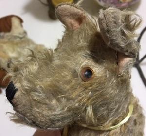 Mohair and felt stuffed plush animals