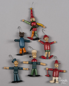 Jaymar jointed wood character ornaments