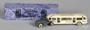 Arcade cast iron Chicago World's Fair Century of Progress Greyhound Lines bus