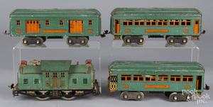 Lionel four-piece train set