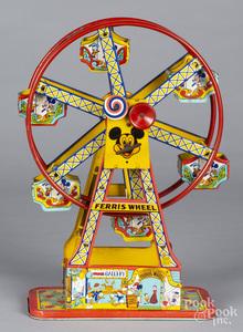 Chein tin litho windup Mickey Mouse ferris wheel