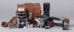 Hasselblad 1000F with case and lenses, etc.