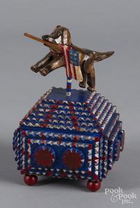 Timothy Strawser patriotic tramp art box