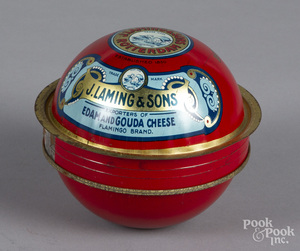 J. Laming & Sons lithograph cheese tin