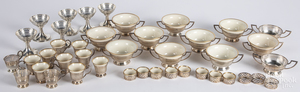 Group of sterling silver with Lenox china inserts