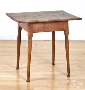 New England maple and walnut tavern table