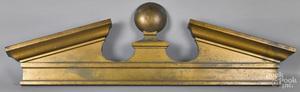Copper bank pediment architectural element