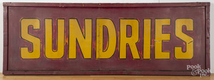 Large painted sundries trade sign