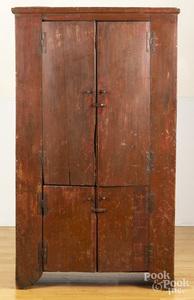 Primitive painted pine cupboard