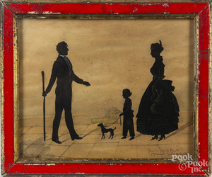 Spanish watercolor and cutout silhouette