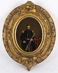 Pair of Civil War painted prints