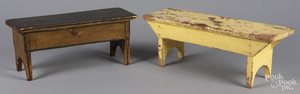 Two painted foot stools