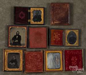 Five tin types and daguerreotypes