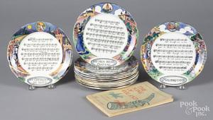 Set of twelve French Sarreguemines plates