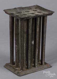 Tin twelve-tube candlemold