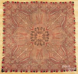 Two paisley shawls.