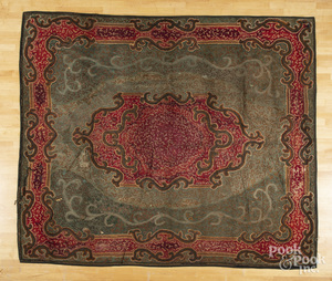 Room size hooked rug