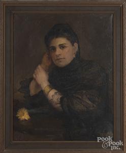 Alice Corson, oil on canvas portrait