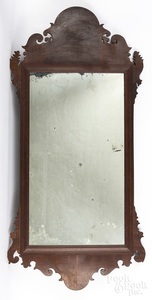 Large Chippendale mahogany looking glass
