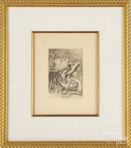 Renoir engraving of Le Chapeau Epingle
