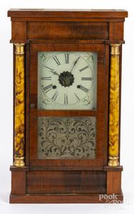 E.N. Welch Empire mahogany mantel clock