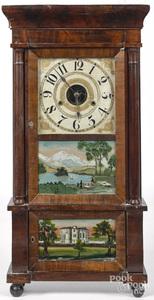George Marsh Empire mahogany mantel clock
