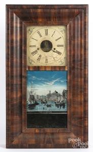 Empire mahogany mantel clock