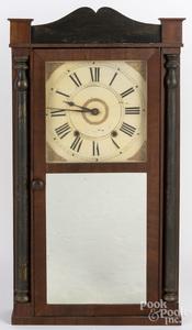 Henry Smith Empire mahogany mantel clock