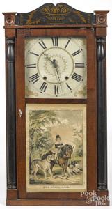 Jerome & Darrow Empire mahogany mantel clock