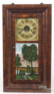 Philadelphia Empire mahogany mantel clock