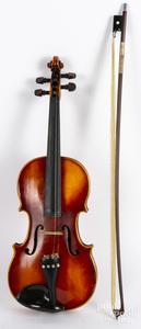 E. R. Pretzschner maple violin, with case and bow
