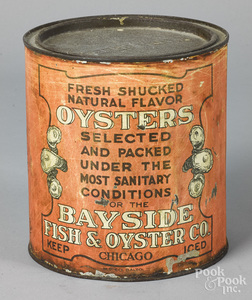 Scarce Chicago oyster tin