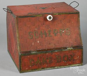 Schepps tin litho cake box
