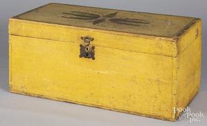 New England painted pine storage box
