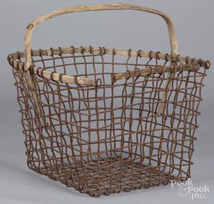 Three wire gathering baskets