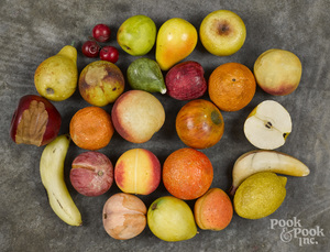 Collection of twenty-four pieces of stone fruit