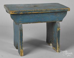 Painted pine foot stool