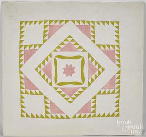Patchwork cradle quilt