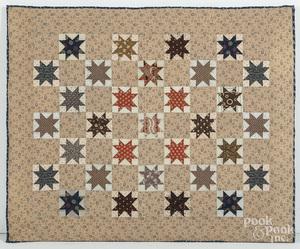 Star variant patchwork cradle quilt