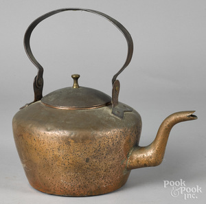 Copper kettle, 19th c.