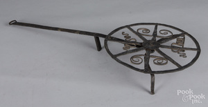 Wrought iron revolving broiler