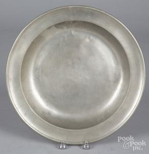 Philadelphia pewter deep dish