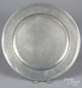 Boston pewter charger