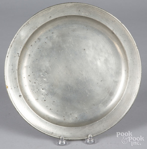 New York pewter plate