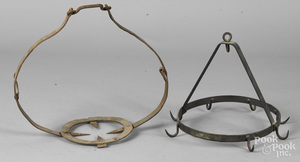 Two wrought iron pot holders