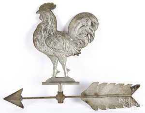 Swell bodied rooster weathervane