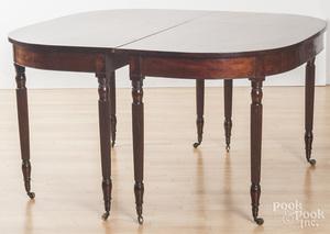 Sheraton mahogany two-part dining table