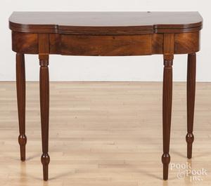 Philadelphia Sheraton mahogany card table