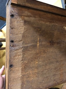 Connecticut oak sunflower chest